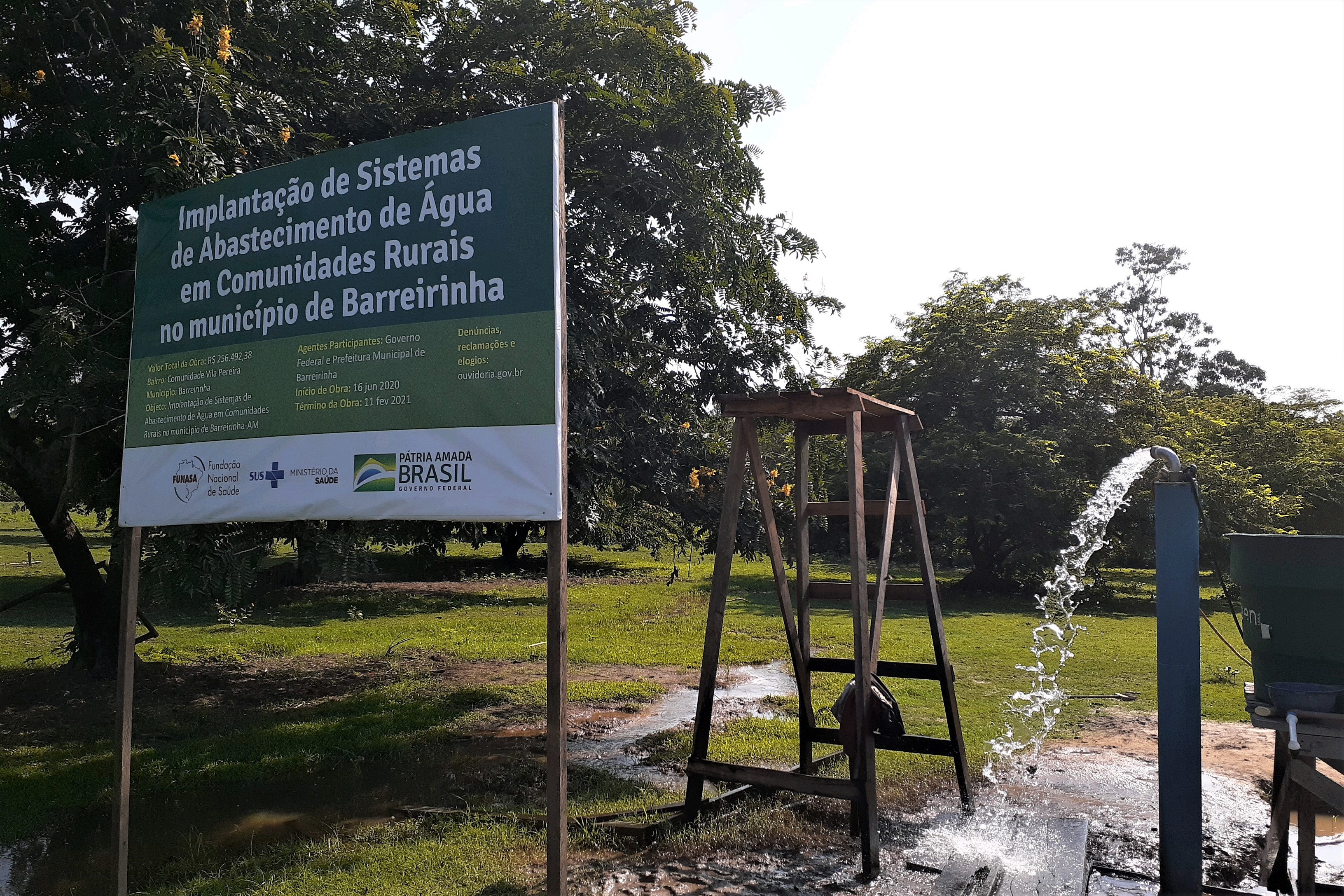 Funasa investe R$ 2,4 milhões em Sistemas de Abastecimento de Água no Amazonas