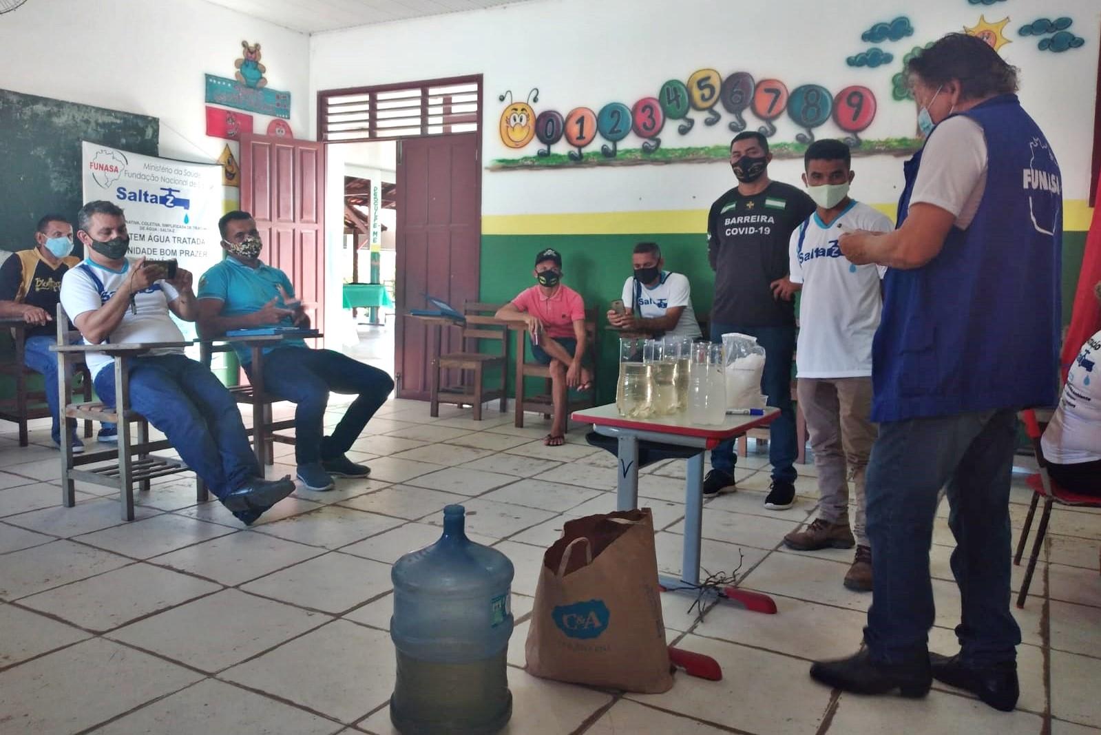 Funasa realiza capacitação e instalação de SALTA-z em Curuá, no Pará