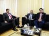 Henrique Pires, Presidente da Funasa, recebe o Senador José Maranhão