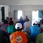 Palestra na Associação dos Moradores de Caatinga Grande atraiu a atenção (Foto: Funasa/RN)