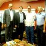 Da esq. para a dir.: Sabino, Rômulo Cruz, Gilson Queiroz, Omar Aziz, Paulo e Gilza Batista (Foto: Governo do AM)