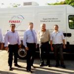 Da esq. para a dir.: Rômulo Cruz, Daniel Nava, Gilson Queiroz, Bernardino e Carlos Lima (Foto: Funasa/AM)