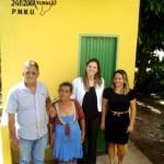 O prefeito Ale Anute Silva, Antônia Alves da Silva, Renata Silva e Souza e Miriam Almeida (Foto: Funasa/AC)
