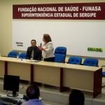 A Ministra Ideli Salvati durante a apresentação feita para os gestores de órgãos federais (Foto: Funasa/SE)