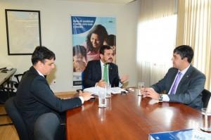 Reunião entre presidente Henrique Pires, dep. Federal Fábio Reis e pres. da Codise, Sergio Reis - Foto: Edmar Chaperman