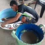 Oficina de pneus custeada por convênio com a Funasa