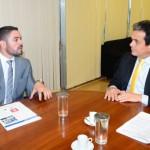 Foto: Edmar Chaperman - Prefeito de Oeiras, Lukano Sá, agradecendo investimentos em Oeiras