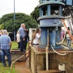 Foto: Suest/SP - Aula prática sobre tecnologias de fluoretação no sistema de abastecimento de água.