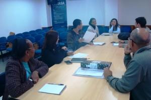 Técnicos da Funasa reunidos para discutir métodos de acompanhamento de convênios - Foto: Suest/RJ