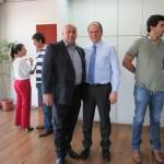 Superintendente (Esq.) e Ricardo Barros (Dir.) em visita a Belo Horizonte/MG.