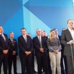 Ministro da Saúde, Ricardo Barros, discursando na abertura de vacinação contra o dengue - Suest/PR.