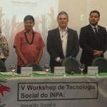Superintendente na Amazonas (ao centro) com participantes da mesa de abertura do evento - Foto: Suest/AM