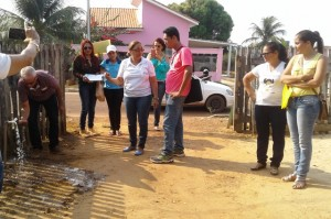 Técnicos do município sendo capacitados pela Funasa - Foto: Suest/RO