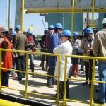 Comitiva em visita à ETE Belém da Sanepar - Suest/PR