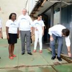 Vistoria das dependências da Funasa realizada pelos dirigentes - Foto: Edmar Chaperman