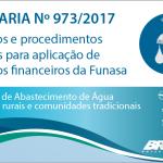 Portaria Funasa 973/2017